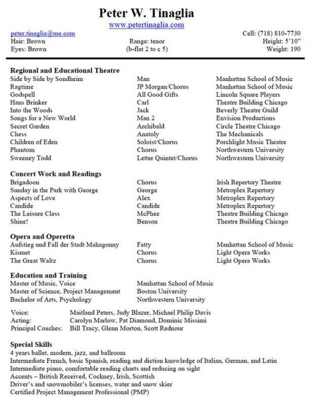 Musical Theatre Resume Template Teacher Resume Template Teacher Resume Template Resume Template Resume Design Template