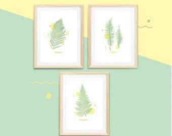 Botanic print - FERN #1 #2 #3 〰  Série de 3 impressions botaniques / vintage sur le thème des fougères.  〰〰〰〰〰〰〰〰〰〰〰  Quelques précisions concernant ces affiches :  ◆ Format disponible : A4 (210x297mm) ou A3 (297x420mm) ◆ Dominante colorée : Vert & Jaune ◆ Chaque affiche est numérotée & signée à la main ◆ Impression numérique sur papier à grain 220g de haute qualité  Attention, les impressions sont vendues SANS le cadre !  〰〰〰〰〰〰〰〰〰〰〰  Les affiches sont emballées avec ♥ afin quelles arrivent…