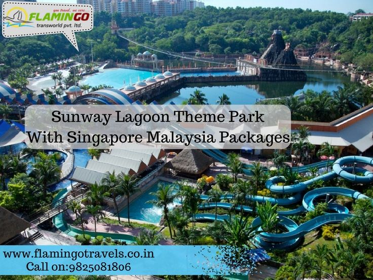 Enjoy in Sunway Lagoon Theme Park with Singapore Malaysia Packages From Mumbai goo.gl/U1F6Y8