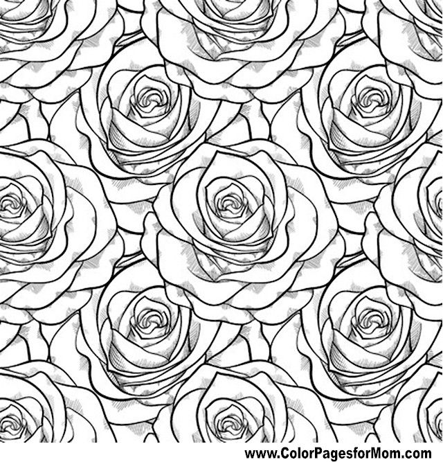flower coloring page 70 - Coloring Pages Roses