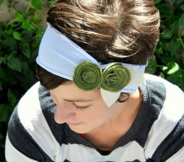 make a headband from a t-shirt sleeve