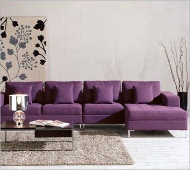 modern purple sectional sofa