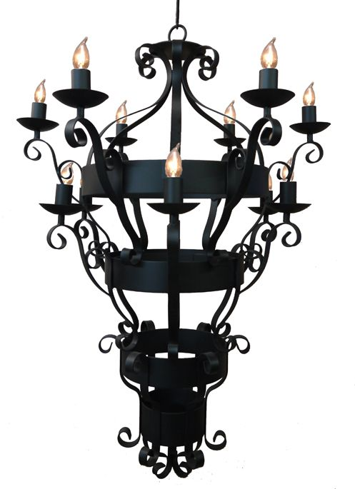 A wrought iron beast of a light originally designed for a gothic mansion