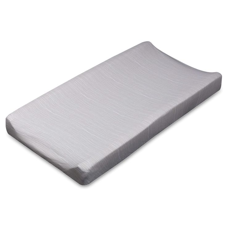 Living Textiles Sketchbook Crinkle Changing Pad Cover in Grey