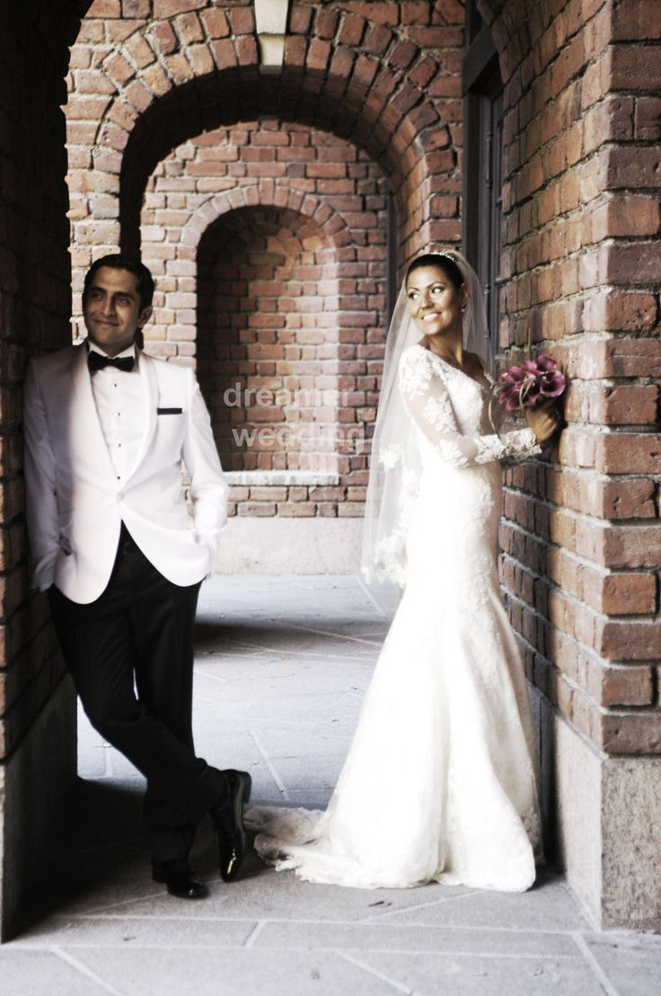 Cool groom and lovely bride:)