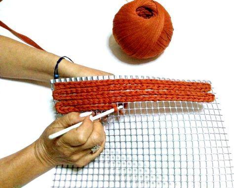 τσάντες και ιδέες για δημιουργίες σε Πλαστικό Καμβά