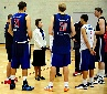 Princess Anne meeting members of the British basketball team.