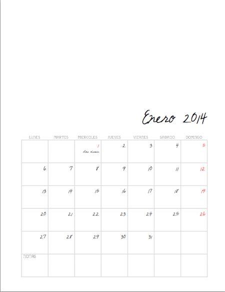 hecho en casa: calendario 2014 / homemade: 2014 calendar