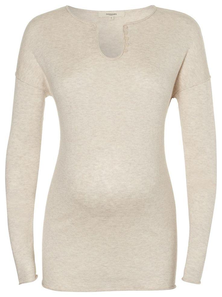 Pullover Fee    Es gibt Kleidungsstücke, die man am liebsten nie wieder ausziehen möchte... Noppies Umstandspullover Fee!    Aus traumhaft weichem Material mit elegantem Schnitt.    Tipp: Wähle deine normale Konfektionsgröße, wir haben die Veränderungen deines Körpers während der Schwangerschaft schon berücksichtigt.    Department: Women's Maternity  Material: 70% Baumwolle / 23% Viskose / 7% K...