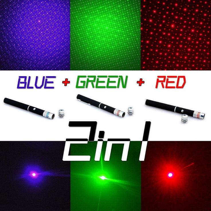 Powerful 3 Color laser Green/Red/Blue star Cap