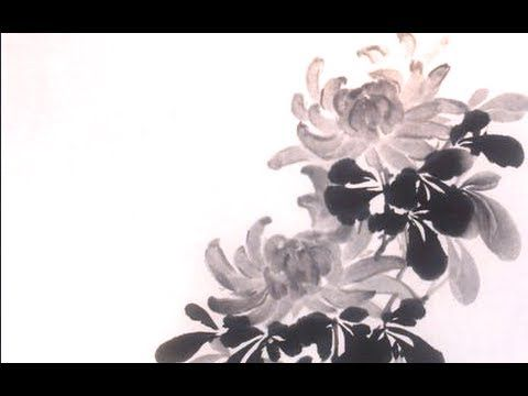 Chrysanthemum sumi-e painting - 菊 -