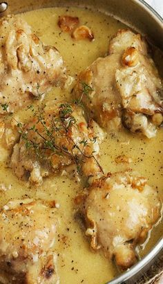 Rustic Chicken with Garlic Gravy