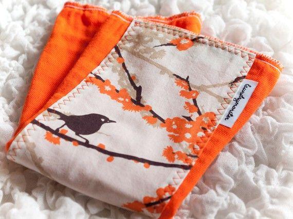Etsy I Laundry Monster I Birds and Blossoms Orange I Burp ClothOrange Special, Orange Mood, Orange Crushes, Orange Orange, Blossoms Orange, Orange Smth, Orange Eye, Orange Awesome, Orange Burp