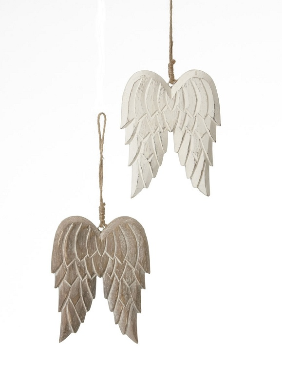 """4""""x5"""" Wooden Carved Wing-Ass't 2"""