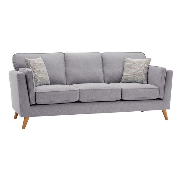 Silver Fabric Sofas 3 Seater Sofa Cooper Range Oak Furnitureland Oak Furniture Land Sofa 3 Seater Sofa