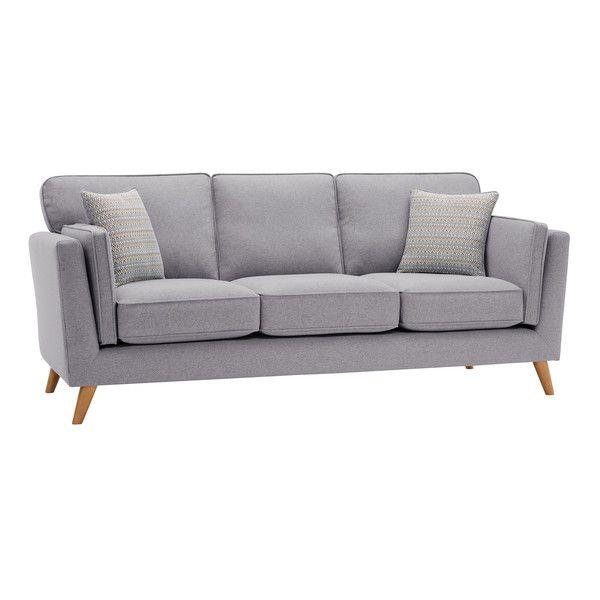 Silver Fabric Sofas 3 Seater Sofa Cooper Range Oak Furnitureland Oak Furniture Land Sofa 3 Seater Sofa