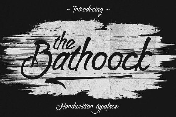 Bathoock Typeface font  @creativework247