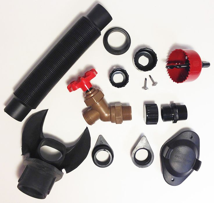 Downspout Diverter Dam Kit for 3 and 4 inch round