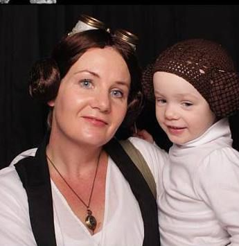 Steampunk princess leia and baby princess leia, Hanley Soloway Sutlers, steampunk star wars family