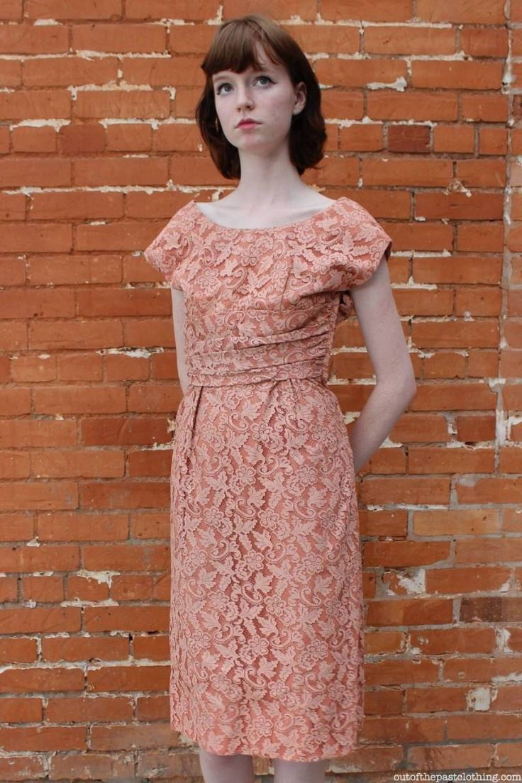 Home Sewn Vintage1950s Lace Overlay Dress