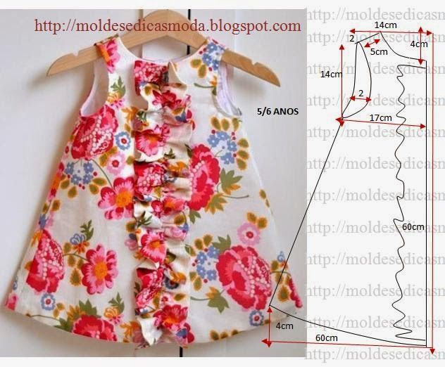 Dress for girls 5-6 years. ==> picture