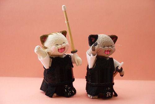 部活シリーズ 「 剣道部ねこ 」 - ちりめん猫のハンドメイド日和