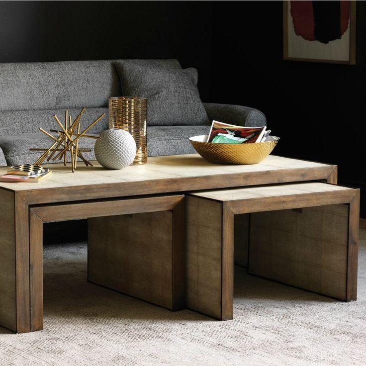 Christiane Lemieux Avedon Nesting Coffee Tables Living Room DwellStudio Precedent Furniture