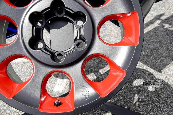 Powder coated wheels from Smoking Gun Powder Coating at Nopi Nationals.