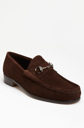 Gucci Classic Suede Moccasin available at #Nordstrom