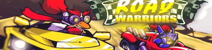 For on the Road: Road Warriors    Deze For on the road staat dit keer in het teken van Hollands glorie. Lucky Kat en Glory Blaze hebben samen een liefdesbaby genaamd Road Warriors gemaakt. Pixel-stijl is hun forté en dat komt ook sterk terug in deze Mad Max-esque game. Racen tot je er dood bij neer valt zal je.    Road Warriors is een 2D-racer waarin het het doel is om met alle mogelijke middelen als eerste de finish te bereiken.   https://www.gamedomein.net/for-on-the-road-road-warriors/