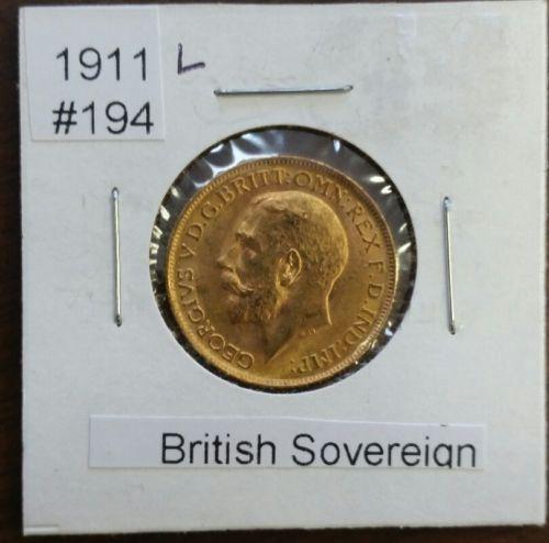 Striking 1911 British Gold Sovereign Gold Coin  No Mint Mark https://www.world-coin-collector.com/product/1911-british-gold-sovereign-gold-coin-no-mint-mark/ #RareCoins #GoldCoins