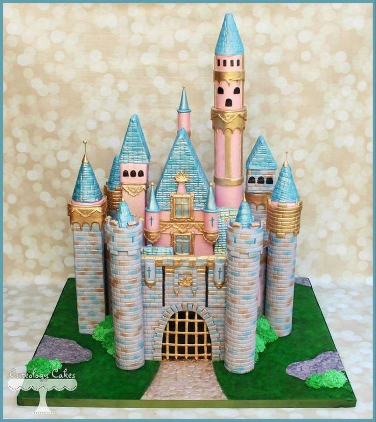 I made this cake for a Disney fanatics birthday. I modeled it after the Sleeping Beauty Castle at Disneyland in Anaheim, CA. The second picture is with a little help from photoshop, but I just had to. :)