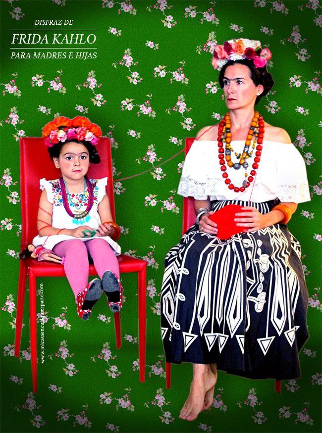 Disfraz de Frida Kahlo para madres e hijas | Blog www.micasaencualquierparte.com
