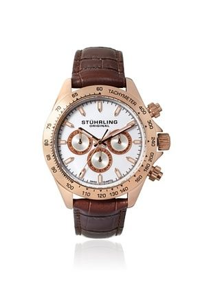 82% OFF Stuhrling Men's 564L.03 Champion Brown/Silver Stainless Steel Watch