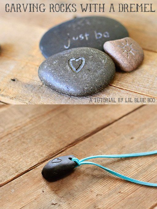 How to use a dremel to carve rocks! Now I make my own river stone pendants!
