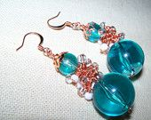 Cluster Dangle Earrings from Repuposed Necklace by JustATish Designs, Apex, NC