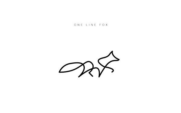 One line - Animal logos on Behance