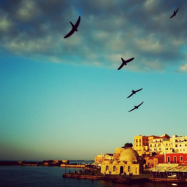What a beautiful photo of #Chania! #Harbour #Spring #Greece  Photo credits: @efraim_kouts