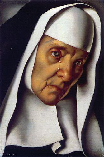 Mother Superior ~ by Tamara de Lempicka (1898-1980): Polish born American Art Deco painter. http://www.mystudios.com/women/klmno/lempicka-mother-superior.html