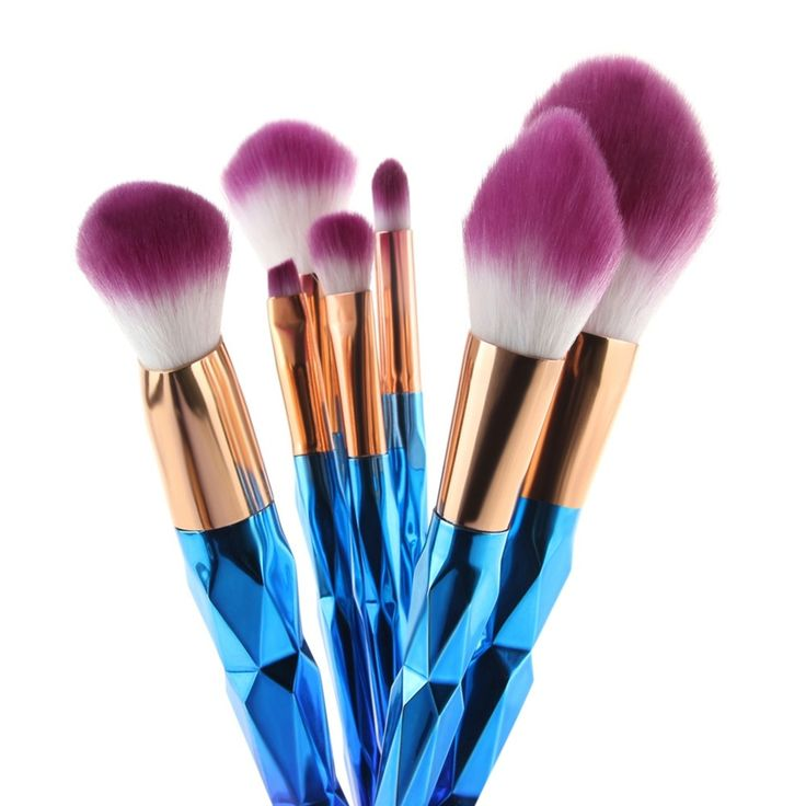 Price-6$    MAANGE Brush Unicorn Brush Makeup Brushes Set 7pcs Rhinestone Tools Powder Foundation Eye Lip Concealer Face colorful Brush Kit
