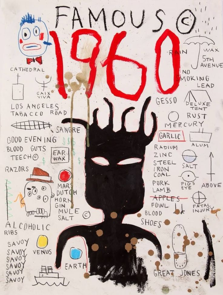 JEAN MICHEL BASQUIAT-untitled (1960 famous).More Pins Like This At FOSTERGINGER @ Pinterest