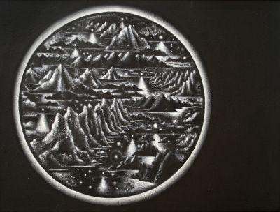 Mountains 2011 acrylic on board