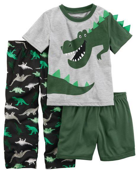 3-Piece Dinosaur Jersey PJs