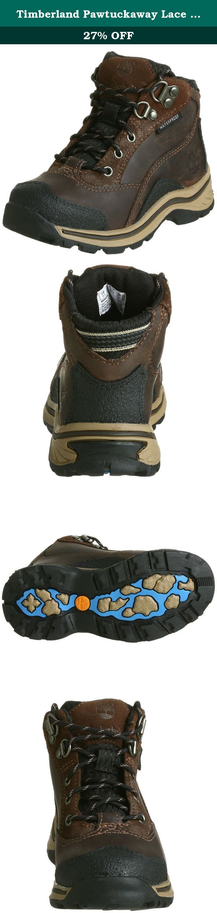 Timberland Pawtuckaway Lace Hiker (Toddler/Little Kid/Big Kid),Brown,12 M US Little Kid. The Pawtuckaway Lace boot from Timberland Kids ensures a secure, all-day fit for your little adventurer thanks to its D-ring-assisted lacing system, while an EVA footbed provides durable cushy comfort.