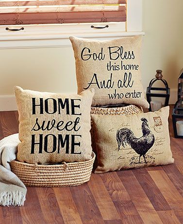 This Vintage Burlap Decorative Pillow adds just the right amount of country charm to your space. With a rustic design and a handmade look, it's the perfect piec