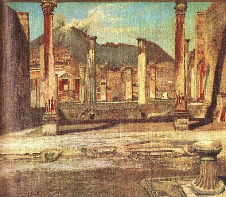 Tivadar Csontváry, Pompeji Have (A Chirurgus háza a Vezúvval) (1897-98, collection privée)