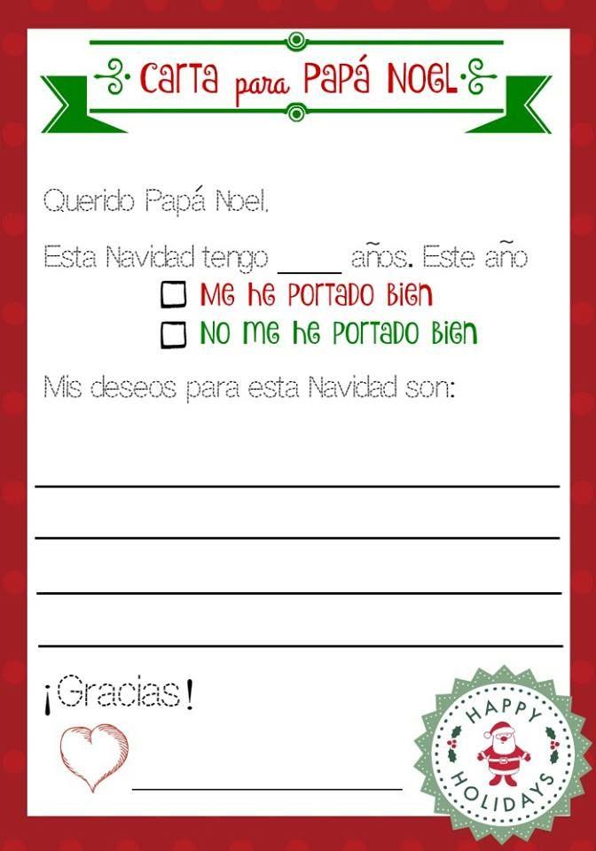 letter to Santa in Spanish