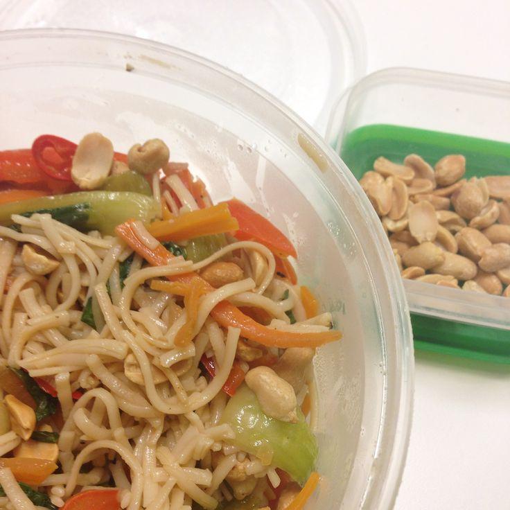 Noodles & WOK: eventueel Pinda's door Cashewnoten vervangen