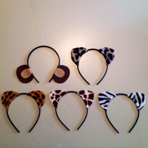 10 quantity Jungle Animal Ears birthday party favors supplies by www.Partyears.etsy.com , $15.00