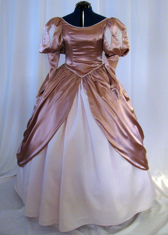 Adult Little Mermaid Pink Ball Gown Custom by NeverbugCreations, $600.00 (favorite Ariel costume)
